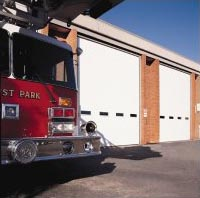 Commercial Garage Door For A Firehouse